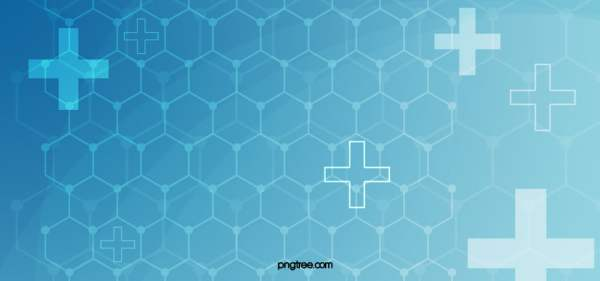 Blue Medical Background Geometry Basic Chain Poster