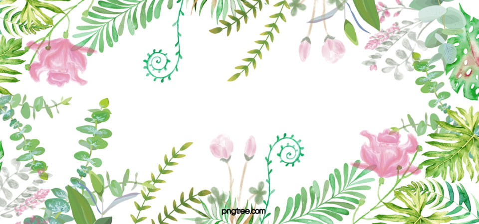 Fresh And Beautiful Floral Border Background Material, Hd