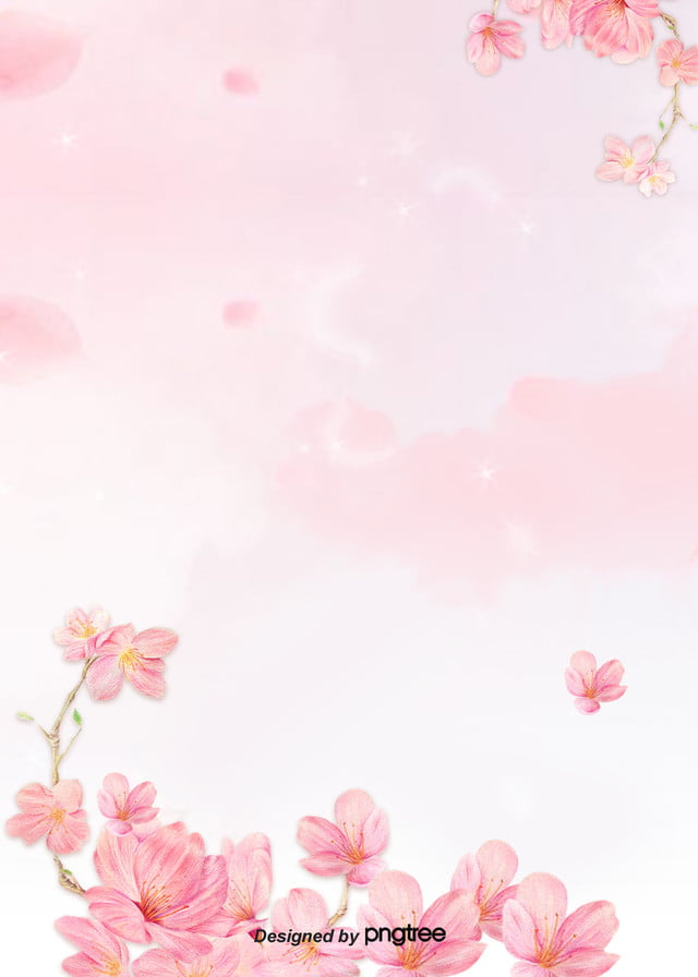 Pink Watercolor Flower Transparent Background