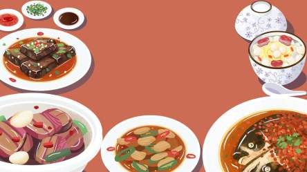 food background hunan cuisine delicious china poster psd resolution orange format