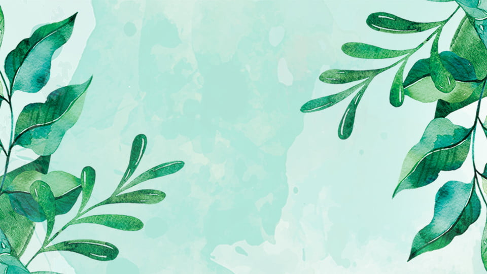 Ppt Template Leaves. Ppt Background. Ppt Template. Green Leaf Background Image for Free Download