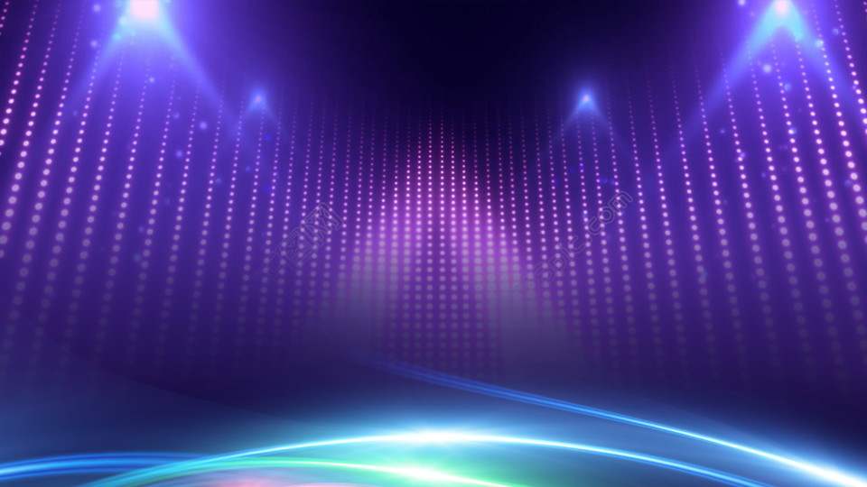 Tech Purple Light New Year Party Background Material