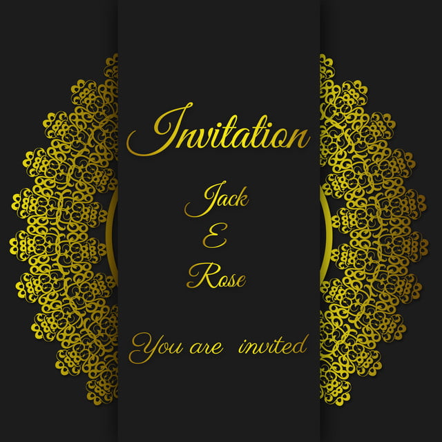 https pngtree com freebackground black wedding card gold invitation card template with gold border and frame 1166072 html