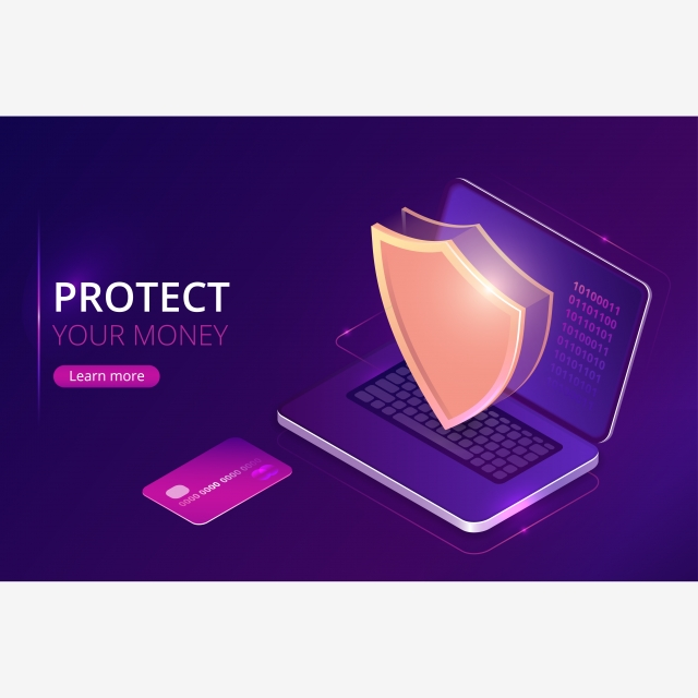 Protecting Money Concept Online Banking Security Bank Card Fraud Background Image For Free Download