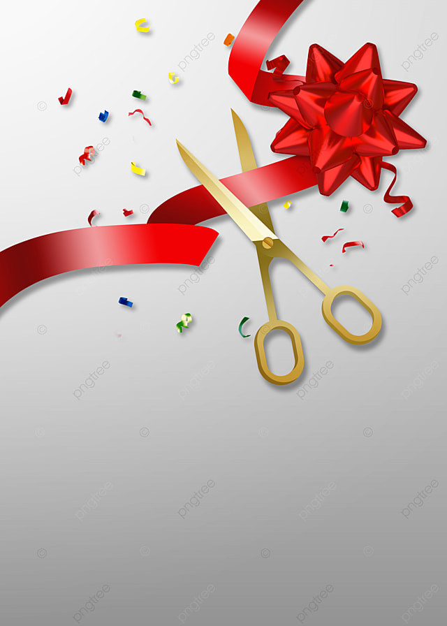 Ribbon Cutting Png : ribbon, cutting, Opening, Ceremony, Golden, Scissors, Ribbon, Cutting, Background,, Ceremony,, Background, Image, Download