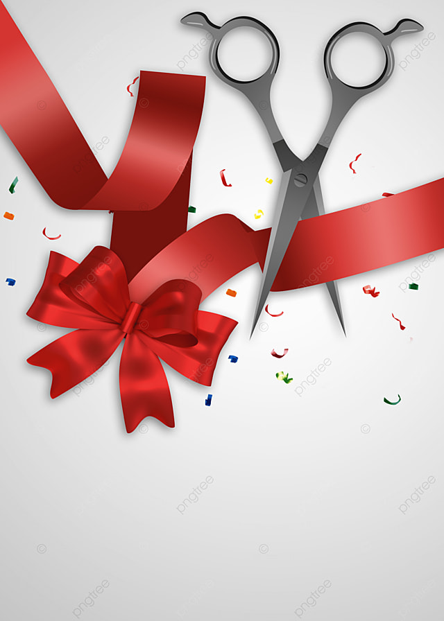 Ribbon Cutting Png : ribbon, cutting, Opening, Ceremony, Ribbon, Cutting, Scissors, Background,, Ceremony,, Color, Chip,, Background, Image, Download