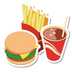 junk food clipart chips burger fast transparent drawing icon background clip file format
