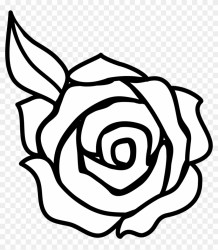 flower clipart rose drawing easy hd beginner pngfind