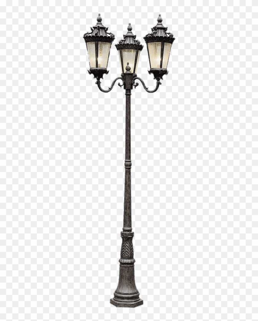 Three Head Street Lantern French Lamp Post Hd Png Download 1000x1000 10955 Pngfind