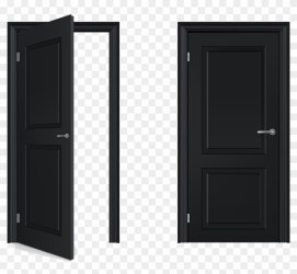 Open And Closed Door Clipart HD Png Download 1024x819 #1277067 PngFind