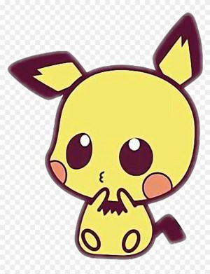 kawaii drawings easy sticker pichu draw animals step clipartmag animated aesthetic seekpng