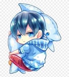 Anime Boy Cute Shark Adorable Babyshark Kawaii Png Free Anime Chibi Transparent Png 650x853 #2357134 PngFind