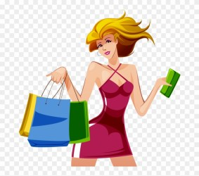 Vector Shopping Girl Png Transparent Png 715x715 #2370851 PngFind