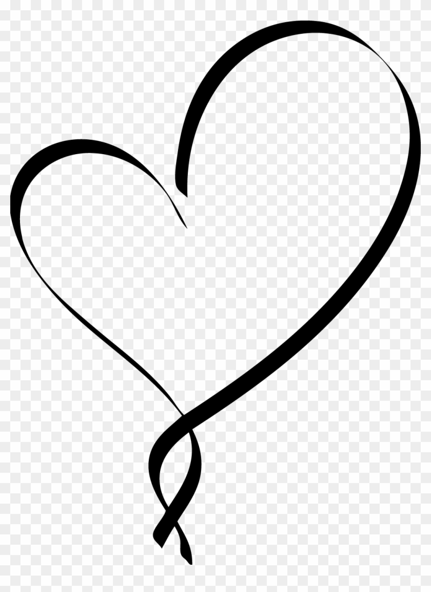Heart Png Black : heart, black, Clipart, Stylistic, Heart, Outline, Black, Outline,, Download, 1052x1393(#2550726), PngFind