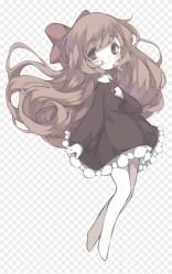 kawaii #pastel #cute #anime #animegirl #sticker Cute Anime Girl Kawaii Brown Hair HD Png Download 1024x1491 #2687634 PngFind