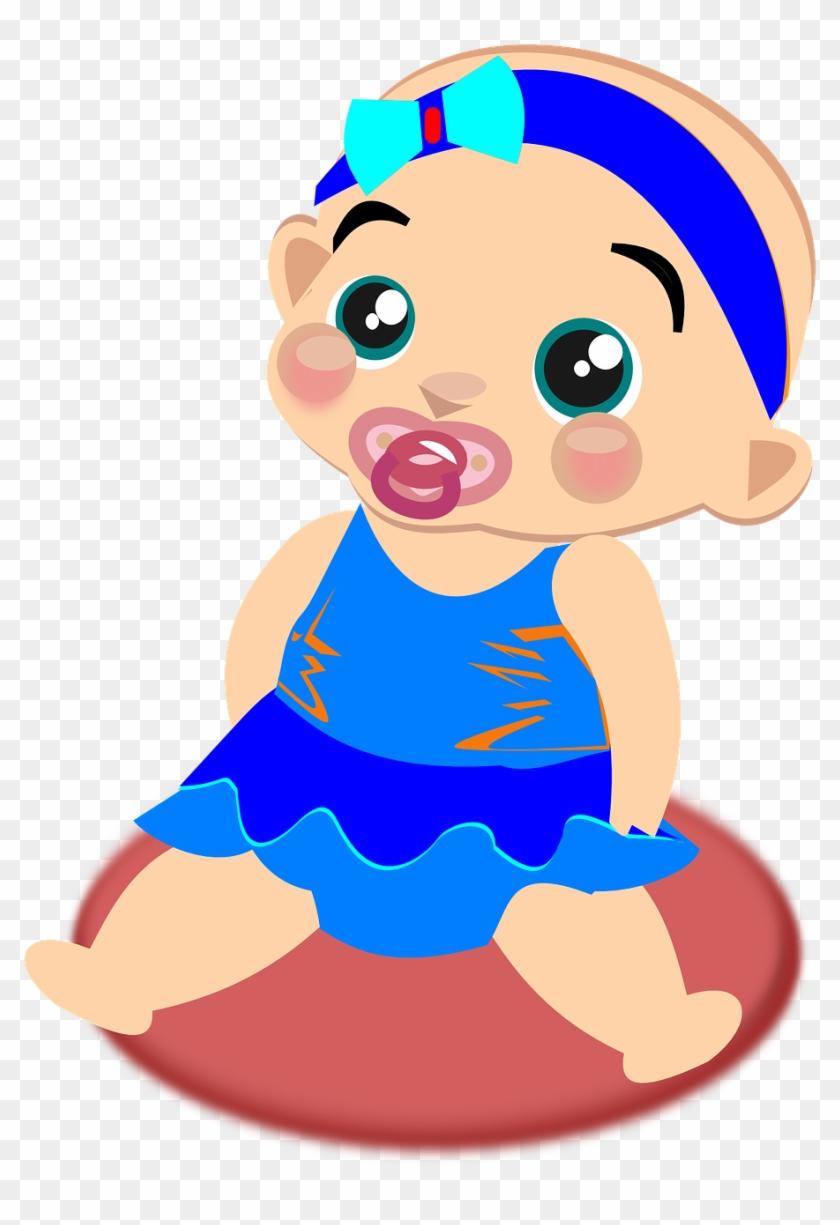 Animasi Anak Perempuan : animasi, perempuan, Infant, Pacifier, Image, Perempuan, Animasi,, Transparent, 907x1280(#2813589), PngFind