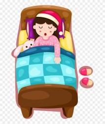 Bed Vector Cartoon Girl Go To Bed Cartoon HD Png Download 1000x1000 #2851773 PngFind