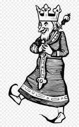 King marcher old Roi King Clipart Black And White Png Transparent Png 660x1280 #3733010 PngFind