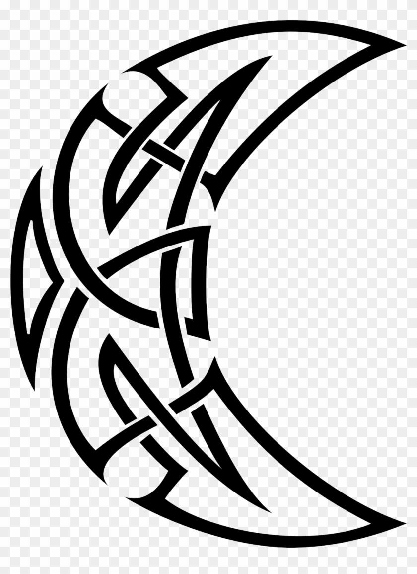 Tribal Tattoo Png : tribal, tattoo, Celtic, Tattoos, Transparent, Crescent, Tribal, Tattoo,, Download, 1654x1654(#462135), PngFind