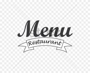 Restaurant Menu Logo Png Transparent Png 600x600 #4611336 PngFind