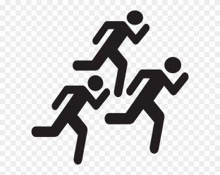 People Running Icon Png Transparent Png 600x593 #5440412 PngFind