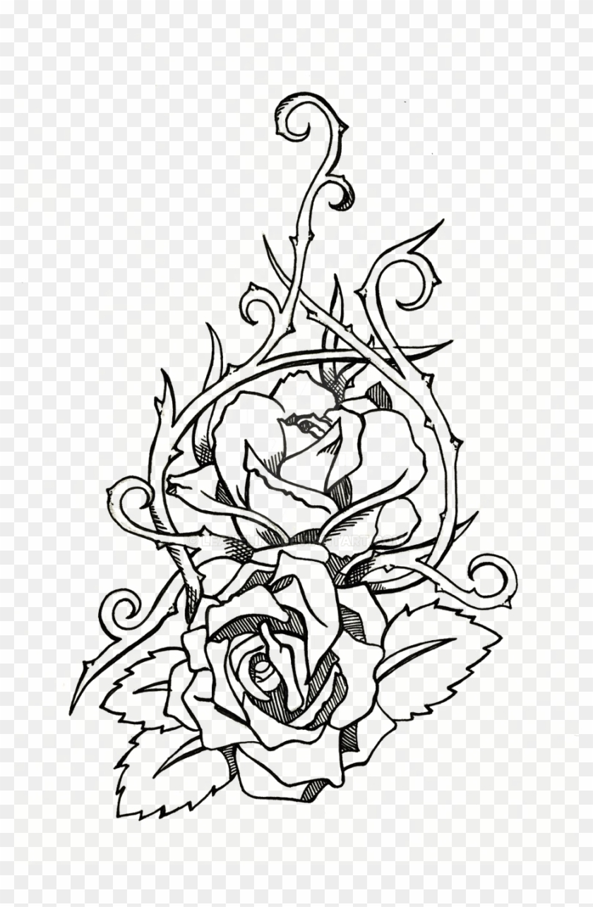 Rose Tattoo Png : tattoo, Tattoo, Transparent, Images, Download, 900x1334(#639496), PngFind