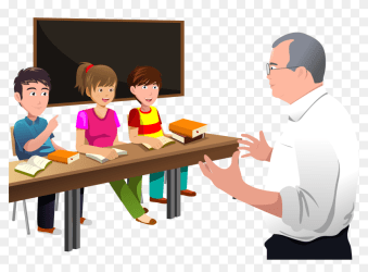 Classroom Lectures Professor Student The Teacher Clipart Teacher Teaching Students Png Transparent Png 1666x1147 #6751644 PngFind