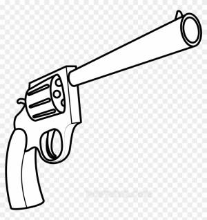 gun easy drawing draw drawn guns uzi simple transparent