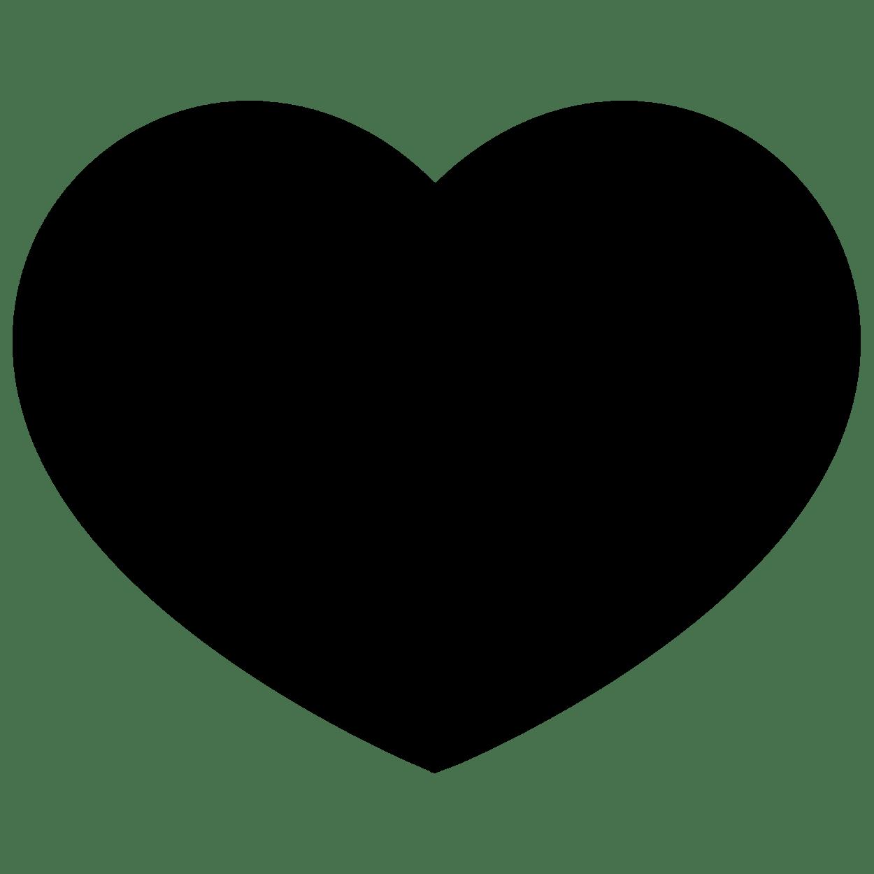 Black Heart Transparent Image