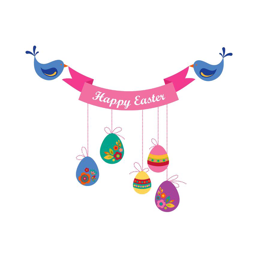 Easter Banner Transparent Image