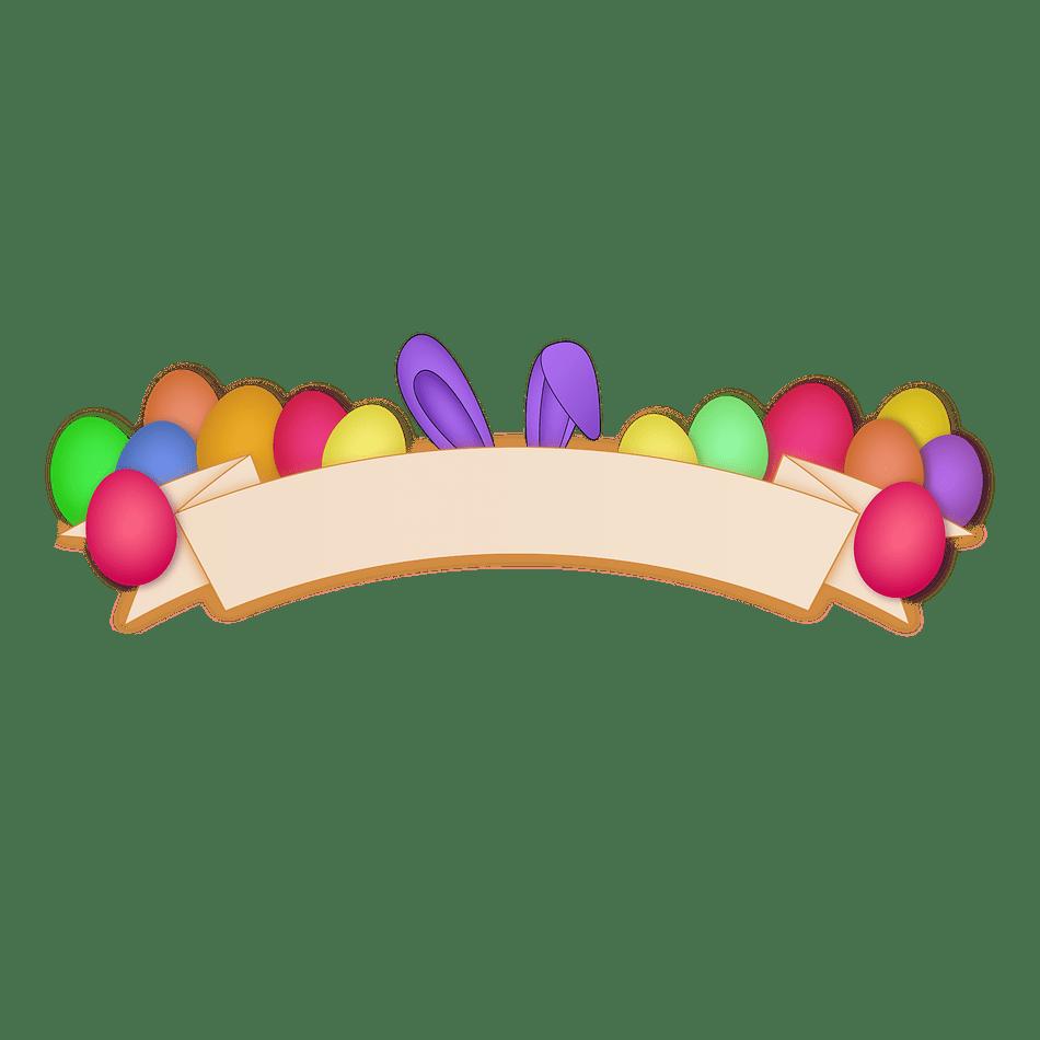 Easter Banner Transparent Clipart