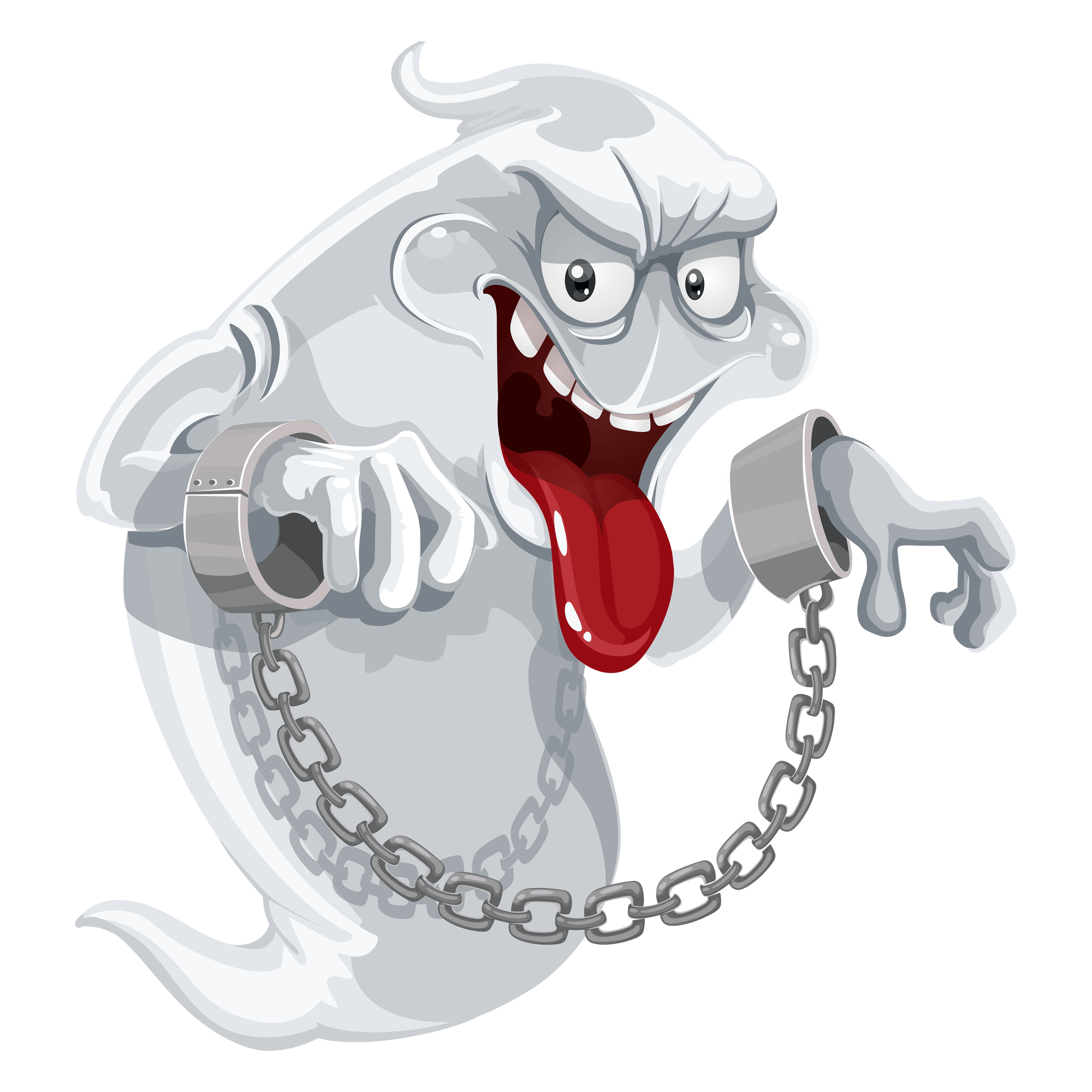 Evil Ghosts with Chains Transparent Image