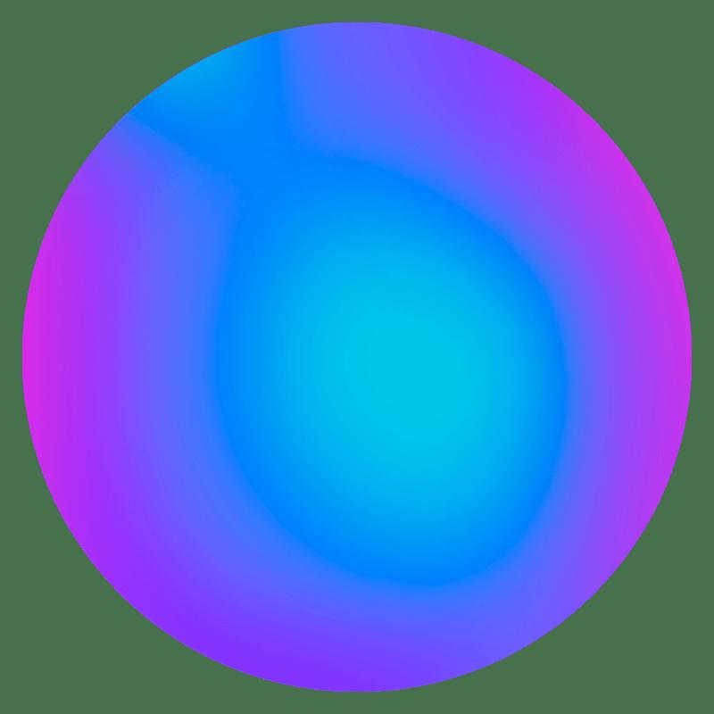 Gradient Sphere Neon Transparent Image