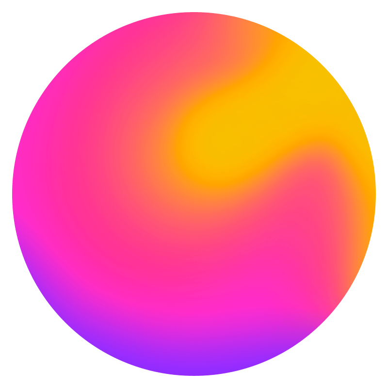 Gradient Sphere Neon Transparent Picture