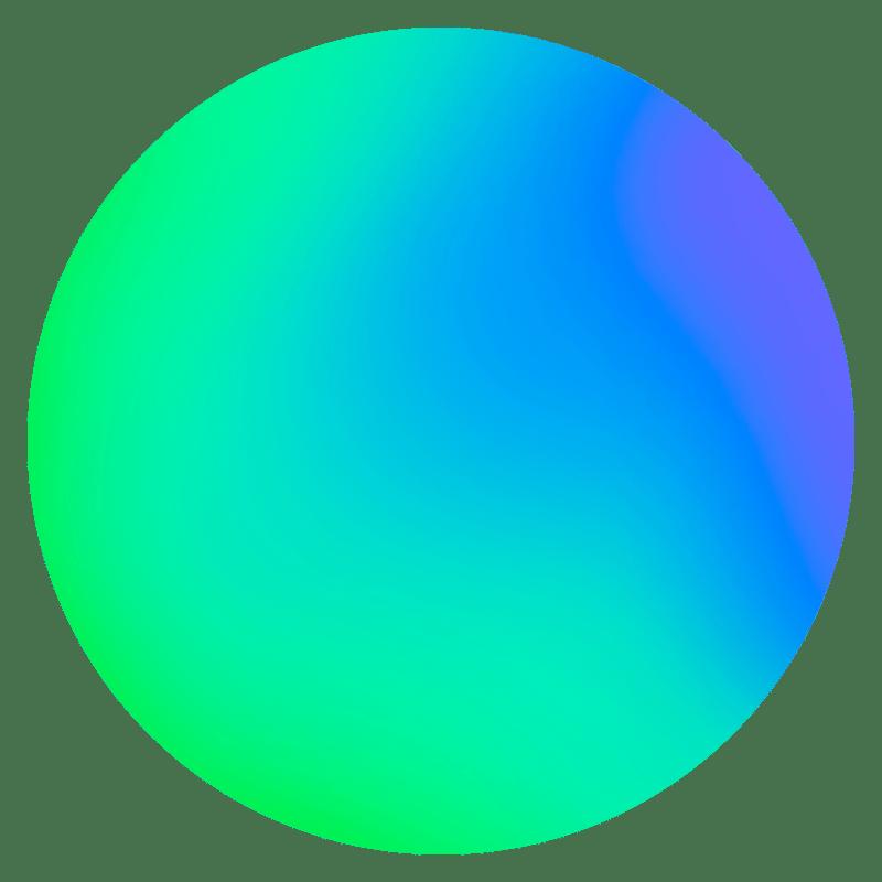 Gradient Sphere Neon Transparent Gallery