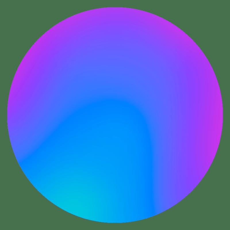 Gradient Sphere Neon Transparent Images