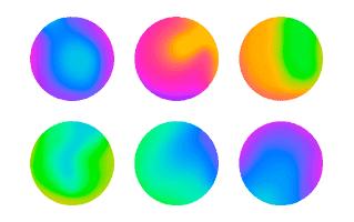 Gradient Sphere Neon