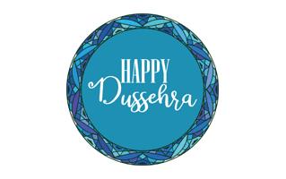 Happy Dussehra Blue
