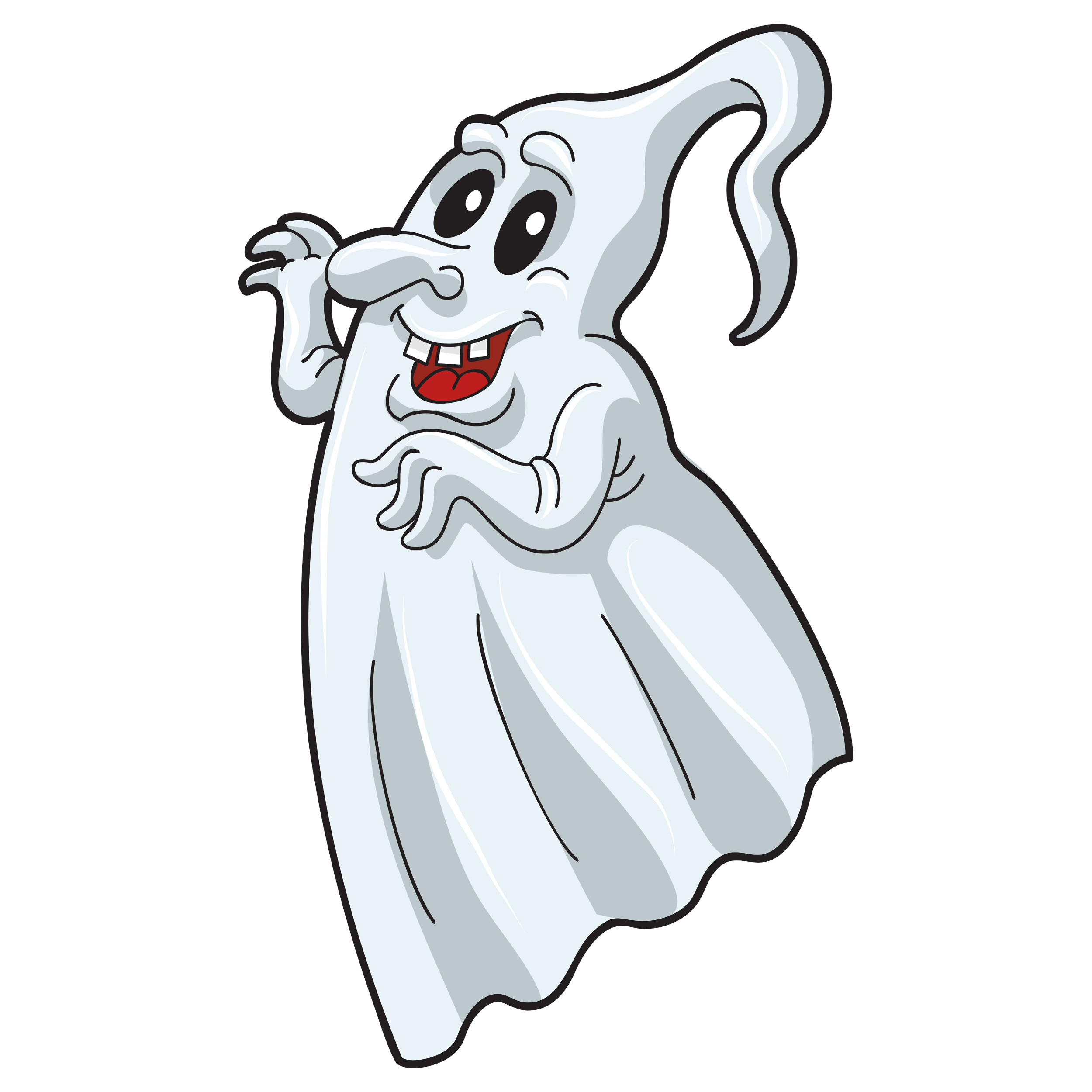 Smiling Ghost Transparent Clipart