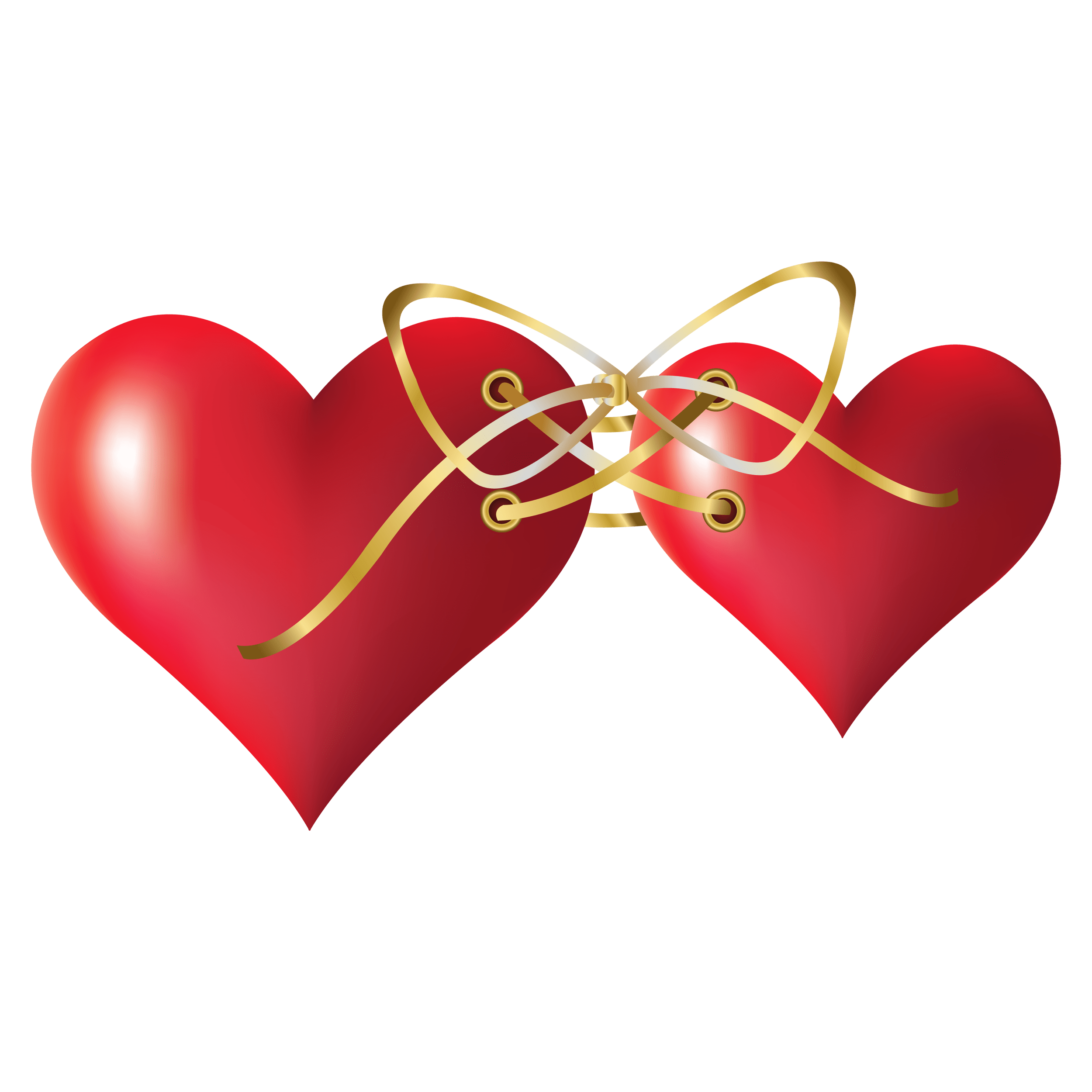 Two Tied Hearts Transparent Picture