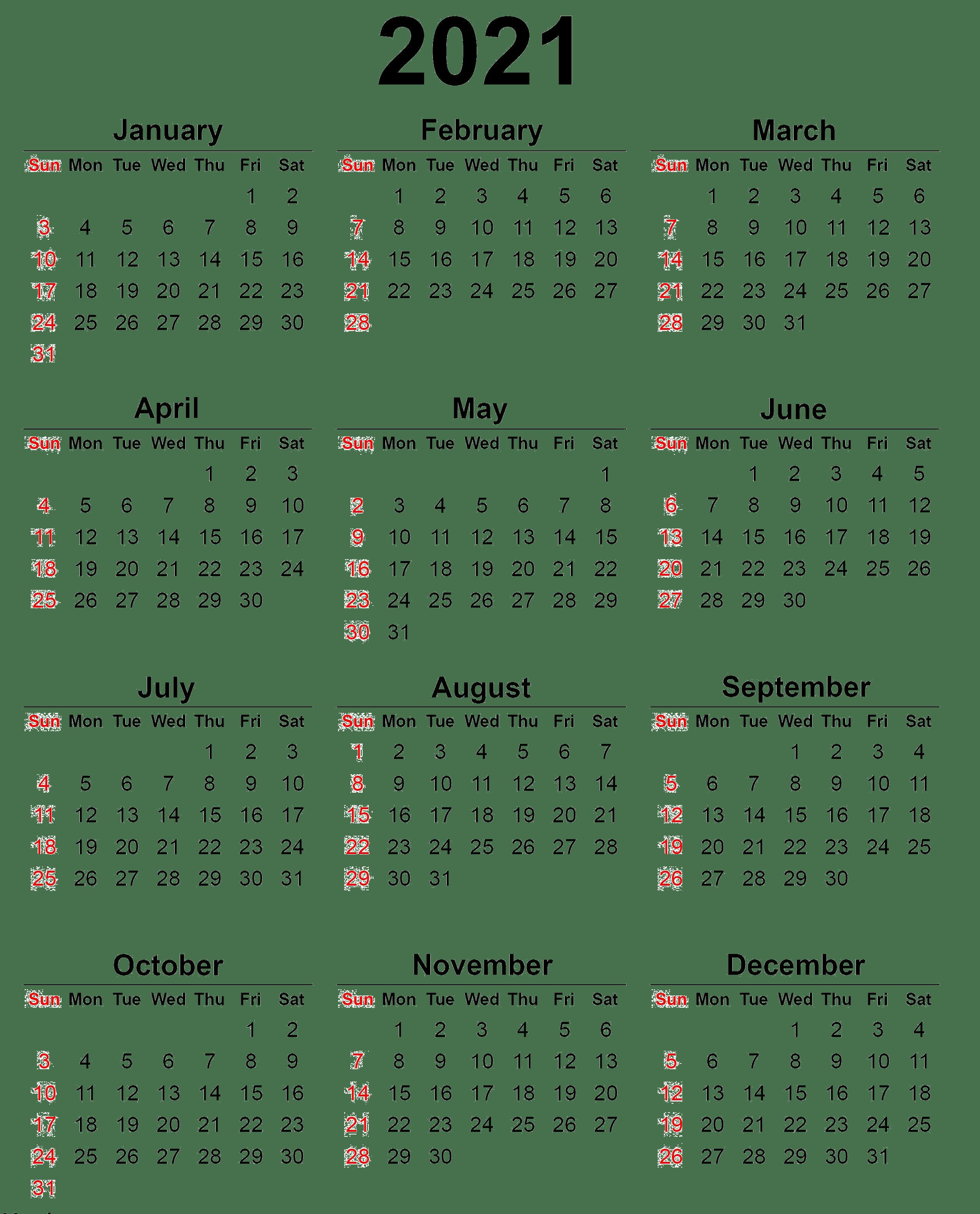 In addition to providing a fresh start, a new calendar can keep you organiz. Calendar 2021 year PNG