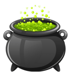 cauldron witches clipart halloween witch cartoon clip animated pot transparent cute cliparts background cauldrons brew wikiclipart bubbling class library printable