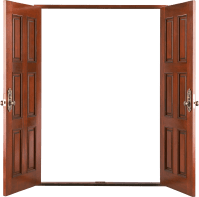 Door PNG images, wood door PNG, open door PNG