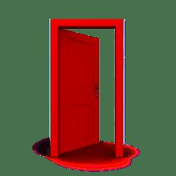 Brown Door Cartoon Png 3