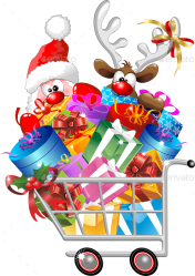 shopping cart reindeer santa cartoon christmas google