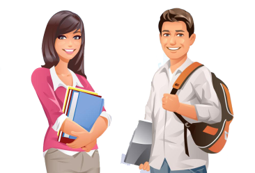 student students college university cartoon female male vector illustration transparent studying woman clip campus creative