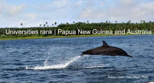 Unversities Rank Aust PNG