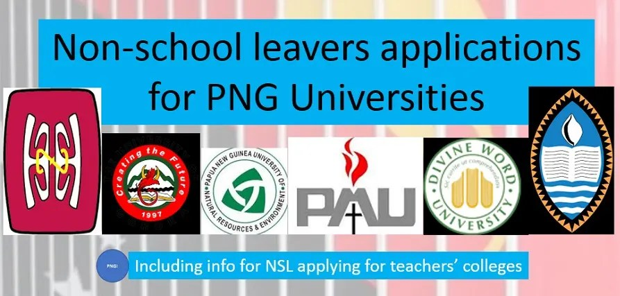 2020 NSL Application Forms 6 PNG Universities