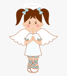 Angel Clipart Brown Hair Pencil And In Color Angel Girl Clipart HD Png Download Transparent Png Image PNGitem