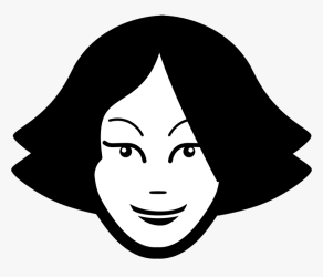 Woman Girl Face Silhouette Teenager Teen Young Women Face Clipart Black And White HD Png Download Transparent Png Image PNGitem